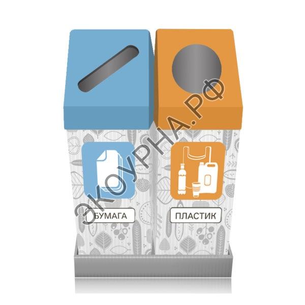 Бумага-пластик/квадратные со скосом 61х31х84, 108л